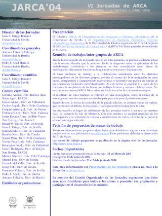 Director de las Jornadas Juan A. Ortega Ramírez Universidad de Sevilla ortega@lsi.us.es Coordinadores generales Antonio