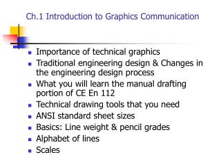 Ch.1 Introduction to Graphics Communication