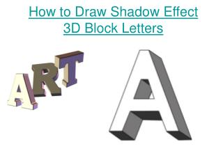 How to Draw Shadow Effect 3D Block Letters