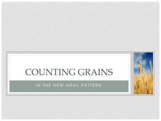 Counting Grains