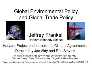 Jeffrey Frankel Harvard Kennedy School