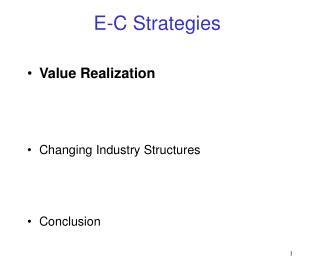 E-C Strategies