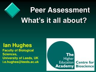 Peer Assessment What�s it all about?