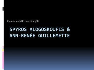 Spyros  Alogoskoufis  &  Ann- RenÉe Guillemette