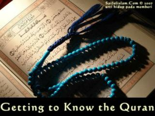 HOW TO INTERACT WITH THE QURAN
