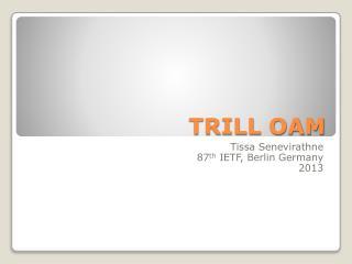 TRILL OAM