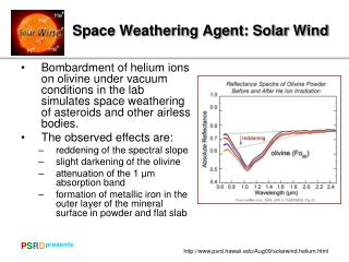 Space Weathering Agent: Solar Wind