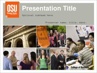 Presentation Title Optional subhead here