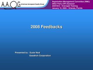 2008 Feedbacks