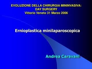 EVOLUZIONE DELLA CHIRURGIA MININVASIVA: DAY SURGERY Vittorio Veneto 31 Marzo 2006