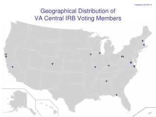 Geographical Distribution of  VA Central IRB Voting Members