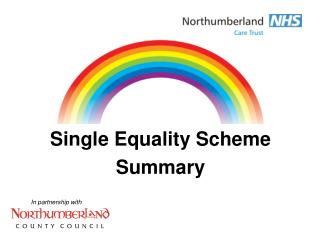 Single Equality Scheme Summary
