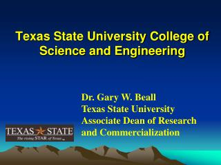 Texas State University College of Science and Engineering