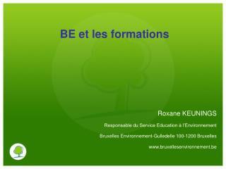 BE et les formations