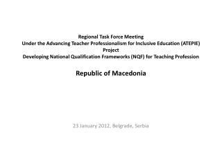 23 January 2012, Belgrade, Serbia
