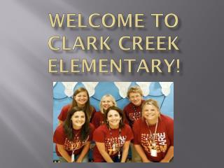 Welcome to Clark Creek Elementary!