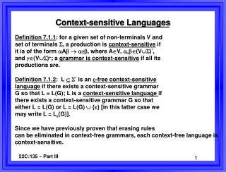 Context-sensitive Languages