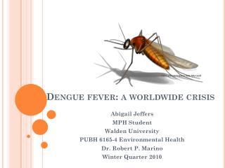 Dengue fever: a worldwide crisis