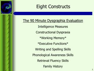 Eight Constructs