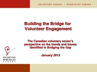 Building the Bridge for  Volunteer Engagement