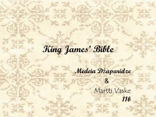 King James '  Bible
