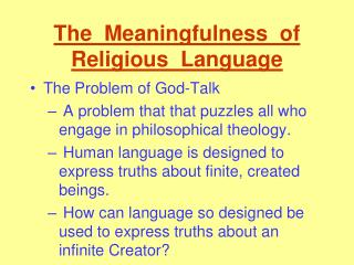The  Meaningfulness  of  Religious  Language