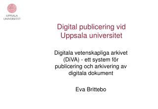 Digital publicering vid Uppsala universitet