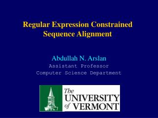 Regular Expression Constrained Sequence Alignment