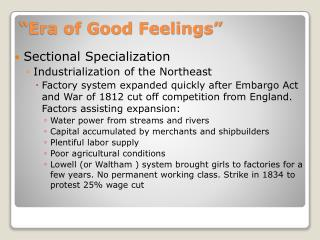 """Era of Good Feelings"""
