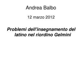 Andrea Balbo