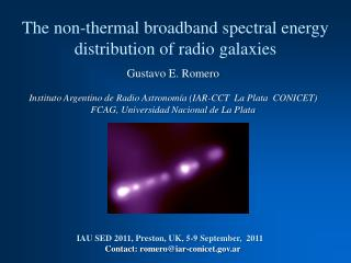 The non-thermal broadband spectral energy distribution of radio galaxies