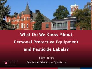 What Do We Know About Personal Protective Equipment  and Pesticide Labels?