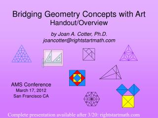 Bridging Geometry Concepts with Art Handout/Overview