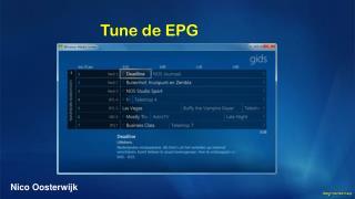 Tune de EPG
