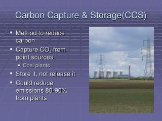 Carbon Capture & Storage(CCS)