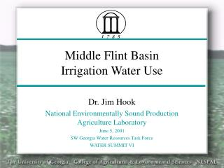 Middle Flint Basin Irrigation Water Use