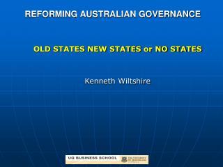 REFORMING AUSTRALIAN GOVERNANCE