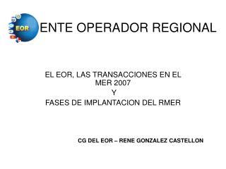 ENTE OPERADOR REGIONAL
