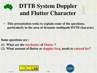 DTTB System Doppler  and Flutter Character