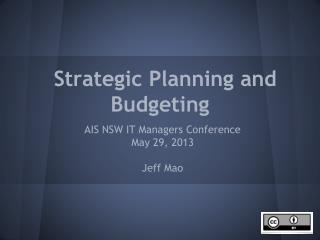 Strategic Planning and Budgeting