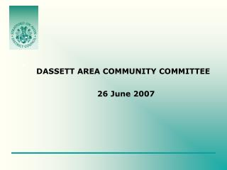 DASSETT AREA COMMUNITY COMMITTEE