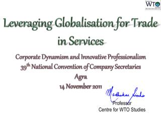 Leveraging  Globalisation  for Trade in Services