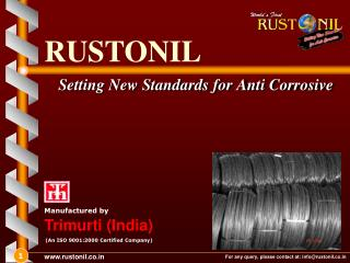 Setting New Standards for Anti Corrosive
