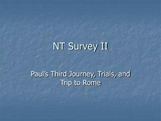 NT Survey II