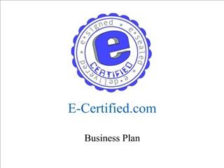 E-Certified