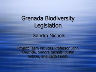 Grenada Biodiversity Legislation