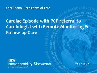 Cardiac Episode with PCP referral to Cardiologist with Remote Monitoring & Follow-up Care