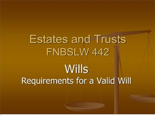 Estates and Trusts FNBSLW 442