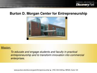 Burton D. Morgan Center for Entrepreneurship