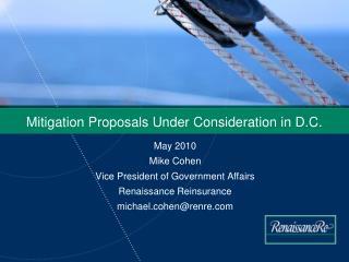 Mitigation Proposals Under Consideration in D.C.